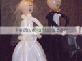 Life-Size Bride & Groom